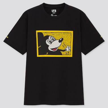 Mickey Mouse X Keith Haring Ut (Short-Sleeve Graphic T-Shirt), Black, Medium