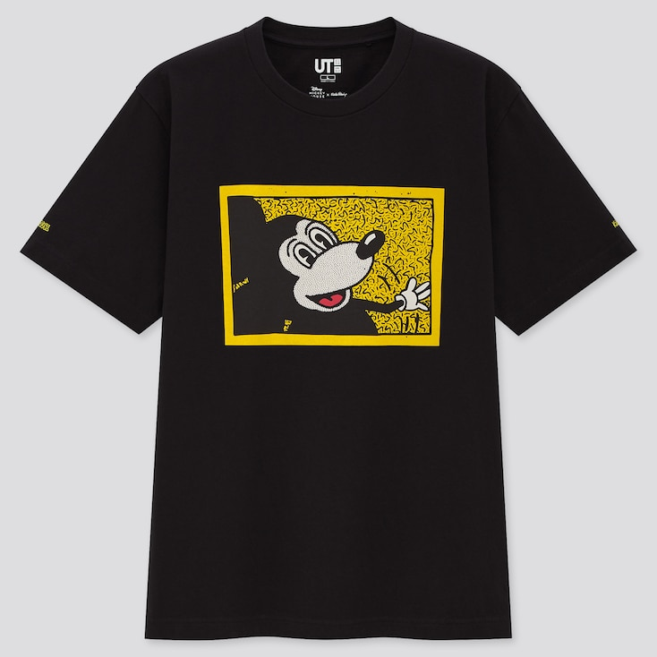 Mickey Mouse X Keith Haring Ut (Short-Sleeve Graphic T-Shirt), Black, Large