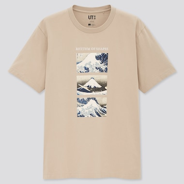 Edo Ukiyo-E Ut (Short-Sleeve Graphic T-Shirt), Natural, Medium