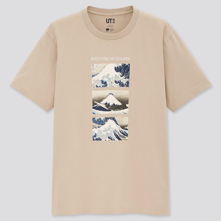 Edo Ukiyo-E Ut (Short-Sleeve Graphic T-Shirt), Natural, Large