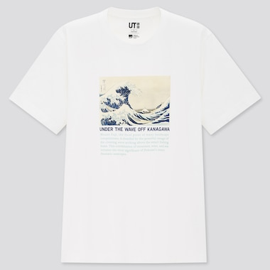 Edo Ukiyo-E Ut (Short-Sleeve Graphic T-Shirt), White, Medium