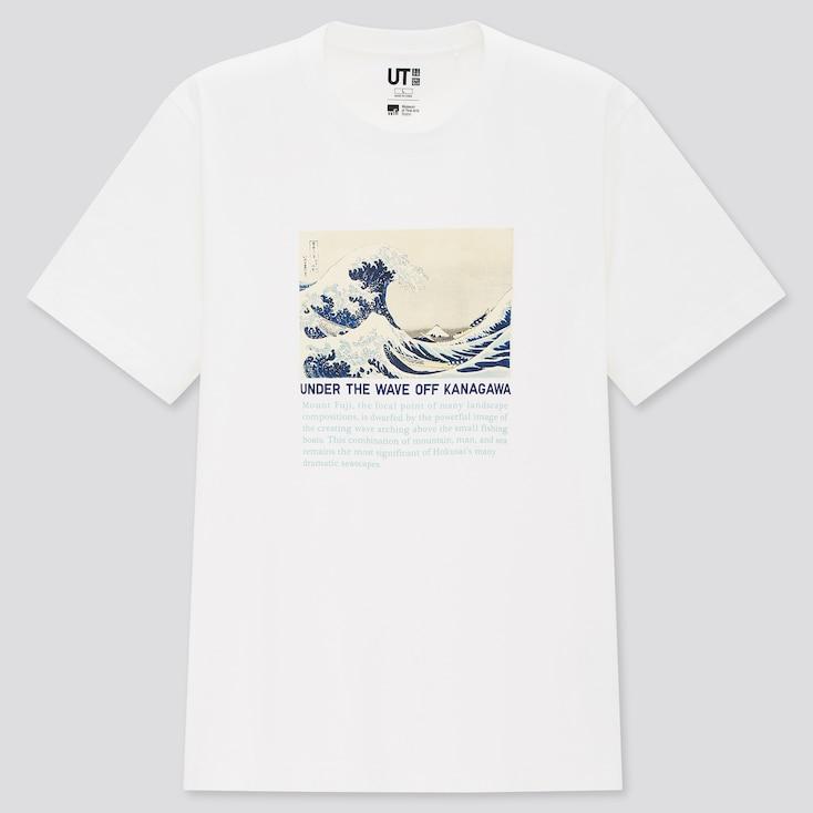 Edo Ukiyo-E Ut (Short-Sleeve Graphic T-Shirt), White, Large