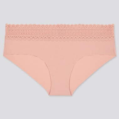 Women Airism Ultra Seamless Hiphugger, Pink, Medium