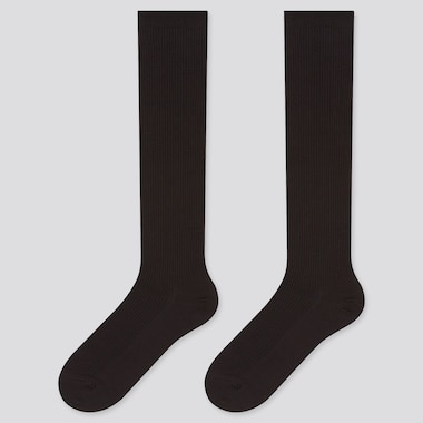 Women HEATTECH Knee High Ribbed Socks (Two Pairs)