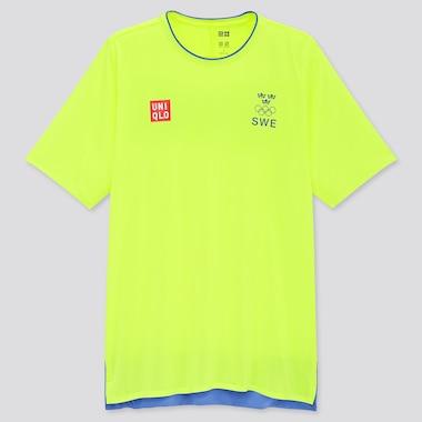 Men UNIQLO+ Swedish Olympic DRY-EX Crew Neck Short Sleeved T-Shirt