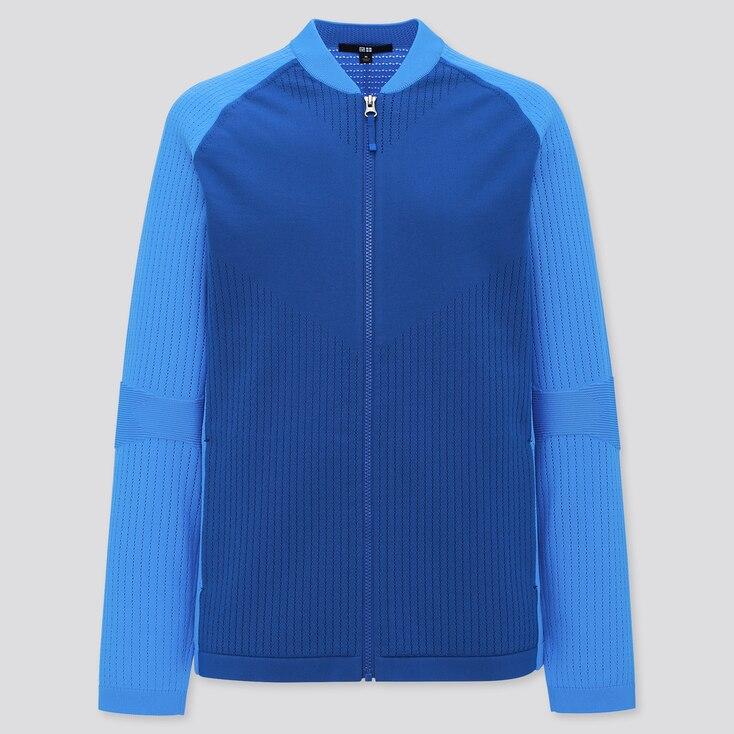 Women Uniqlo+ Knitted Jacket, Blue, Large