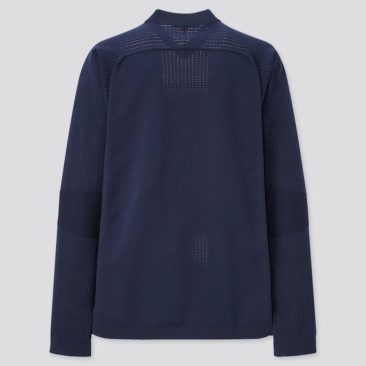 Women Uniqlo+ Knitted Jacket, Navy, Large