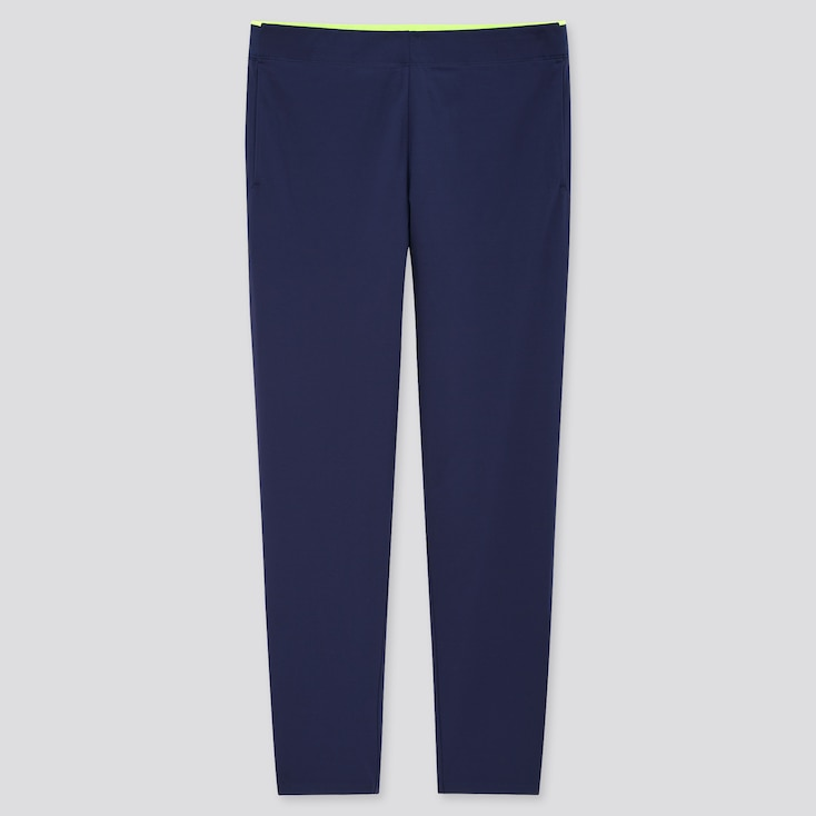 Women Uniqlo+ Ultra Stretch Active Pants, Navy, Large