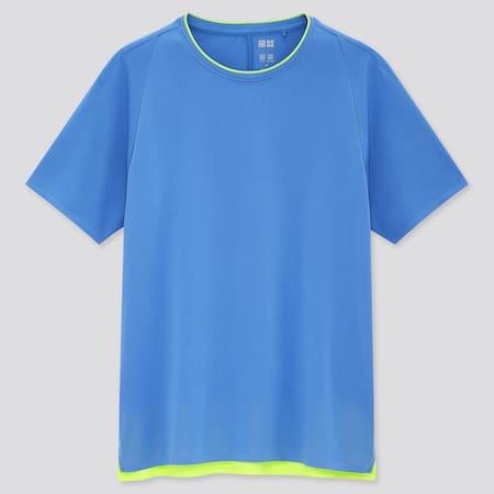 Women UNIQLO+ DRY-EX Crew Neck Short Sleeved T-Shirt