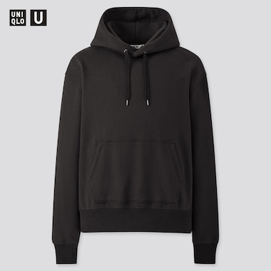 Men U Pullover Hoodie, Black, Medium