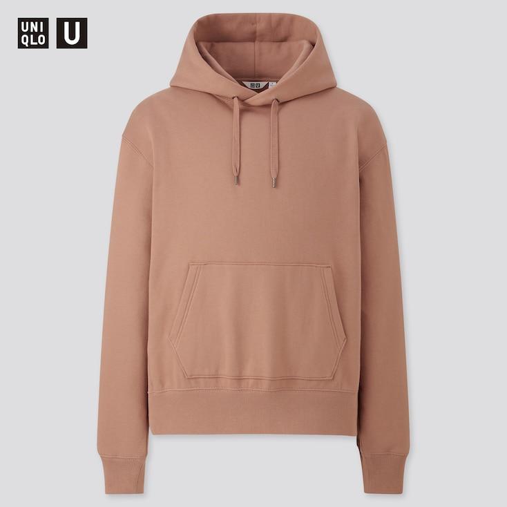 Men U Pullover Hoodie, Brown, Large