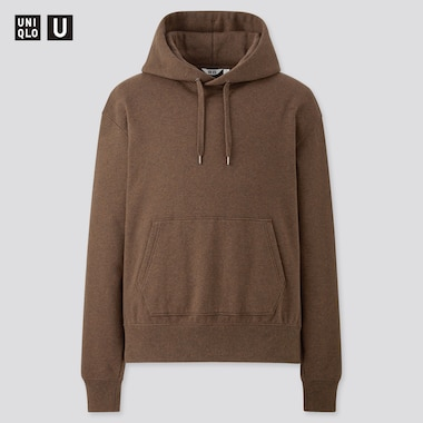Men U Pullover Hoodie, Dark Brown, Medium