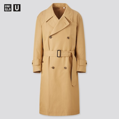 Men U Trench Coat, Beige, Medium