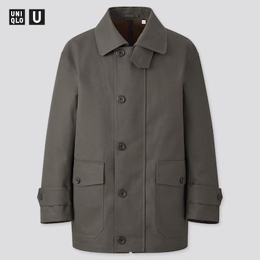 Men Uniqlo U Half Coat