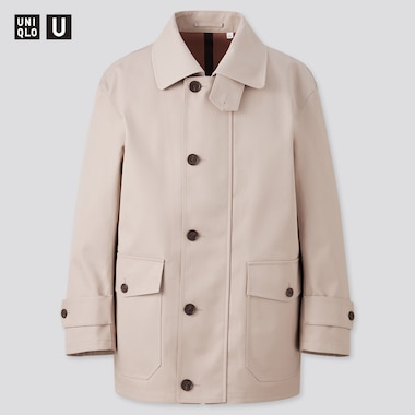 Men U Half Coat, Beige, Medium