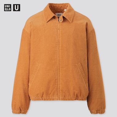 Men Uniqlo U Corduroy Padded Blouson Jacket