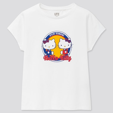 Girls Sanrio Characters Ut (Short-Sleeve Graphic T-Shirt), White, Medium