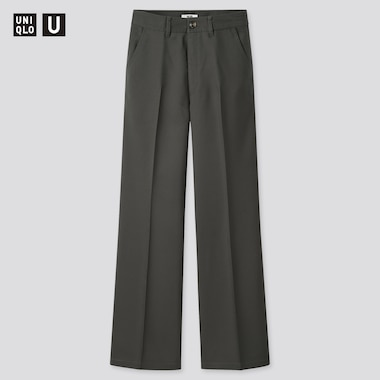 Pantaloni Uniqlo U Twill Gamba Larga Donna