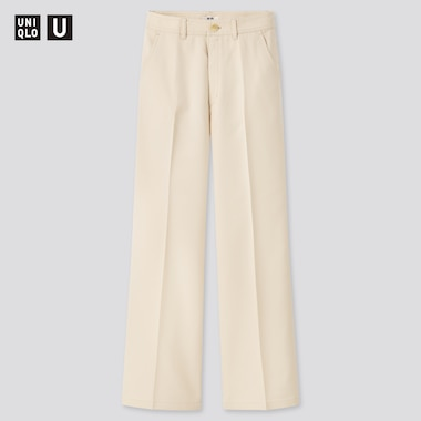 Women U Twill Wide Pants, Natural, Medium