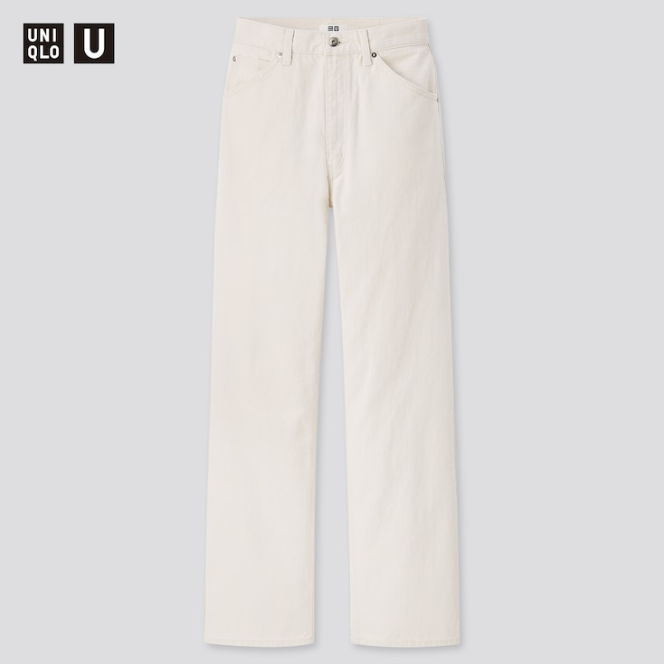 Women U High-Rise Boyfriend Jeans, Off White, Large