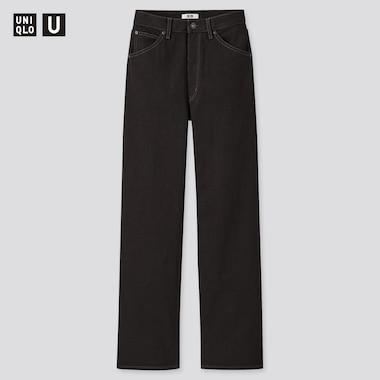 Women U High-Rise Boyfriend Jeans, Black, Medium