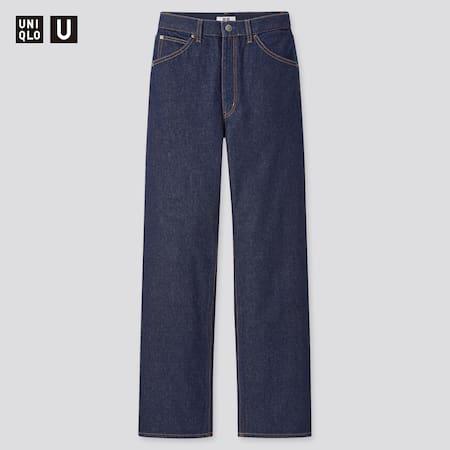 Women Uniqlo U High Rise Boyfriend Jeans