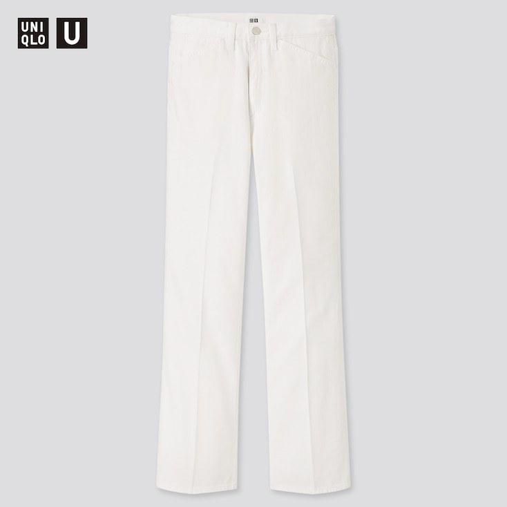 Women U Flare Jeans, White, Large
