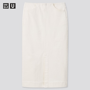 Women Uniqlo U Denim Pencil Long Skirt