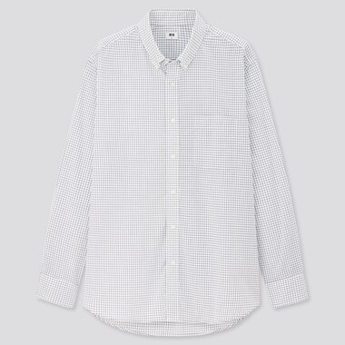Men Extra Fine Cotton Broadcloth Regular Fit Checked Shirt (Button-Down Collar)