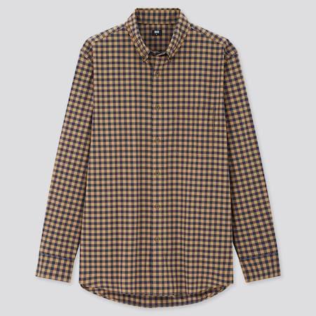 Herren Kariertes Hemd aus 100% Extra Feiner Baumwolle