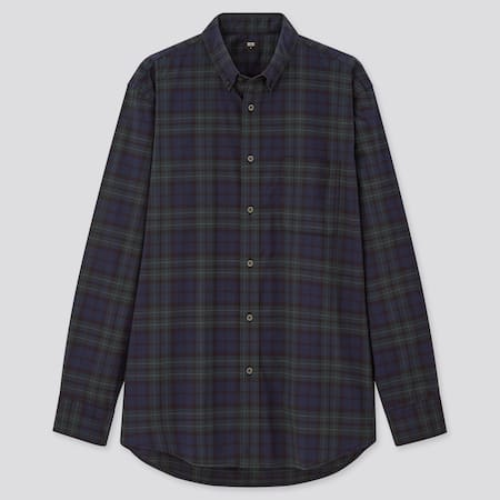 Extra Fine Cotton Broadcloth Regular Fit Checked Shirt (Button-Down Collar)