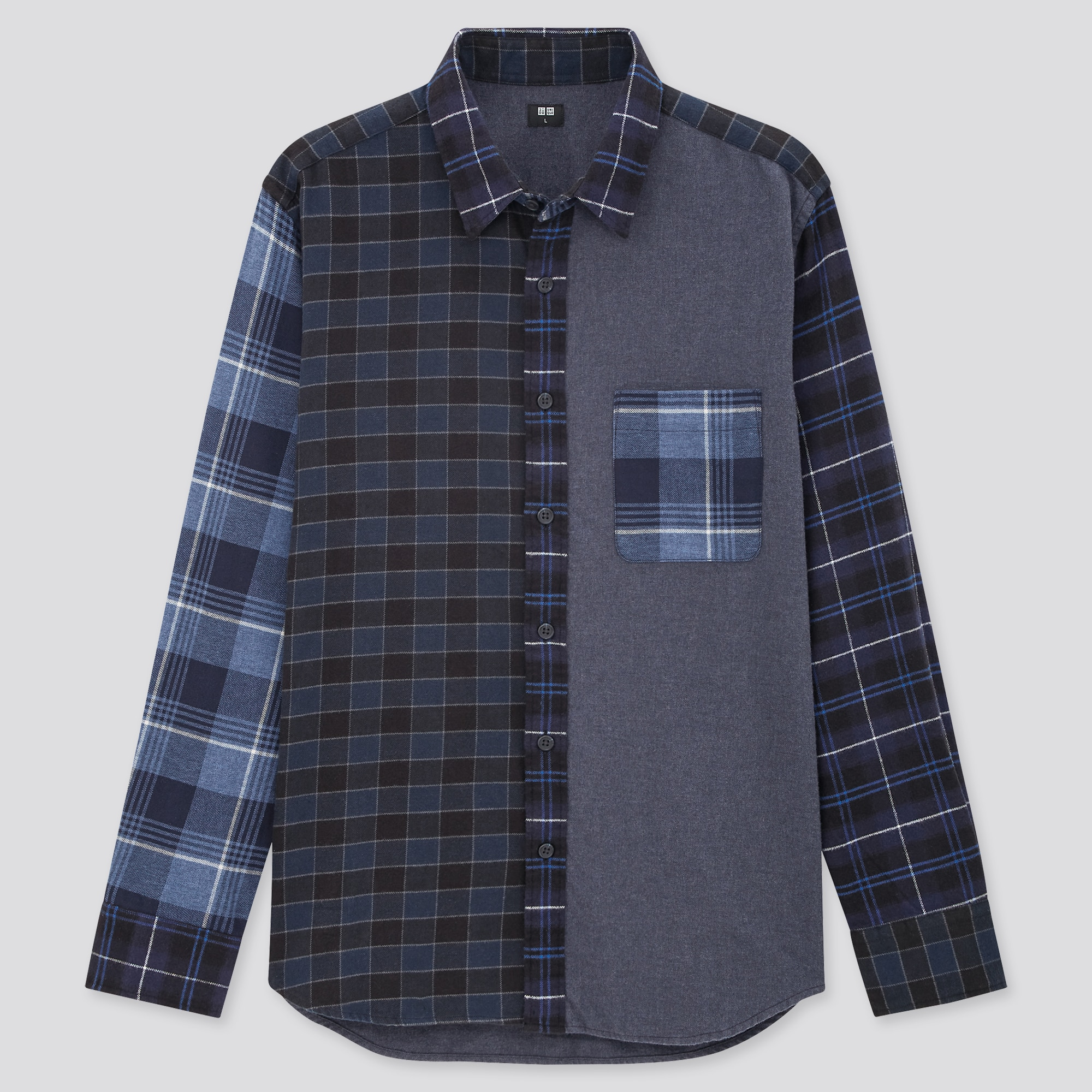 Uniqlo MEN FLANNEL CHECKED LONG-SLEEVE SHIRT