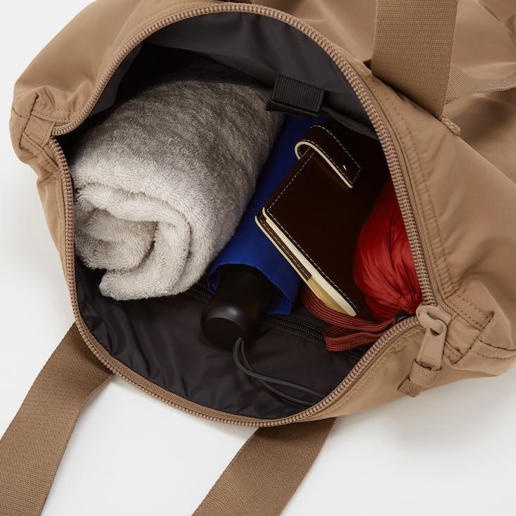 U Padded 2-Way Tote Bag, Brown, Large
