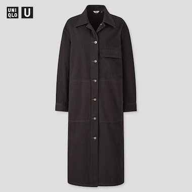 Women Uniqlo U Denim Shirt Coat