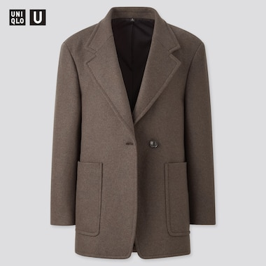 Women Uniqlo U Wool Blend Jersey Jacket