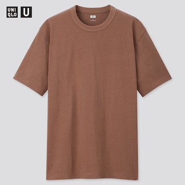 Men U Crew Neck Short-Sleeve T-Shirt, Dark Brown, Medium