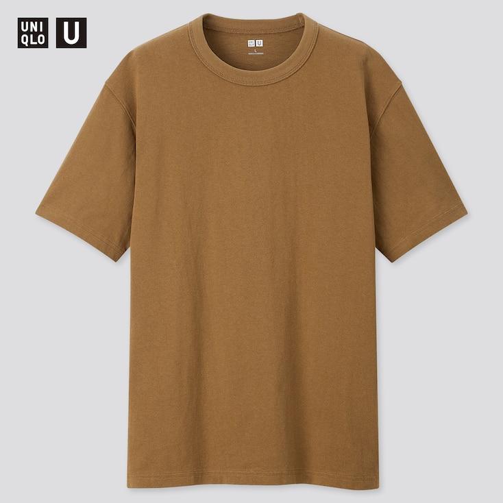 Men U Crew Neck Short-Sleeve T-Shirt, Mustard, Large