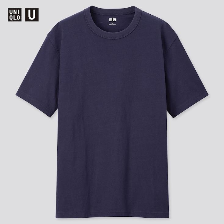 Men U Crew Neck Short-Sleeve T-Shirt, Navy, Large