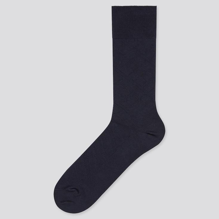 Men Supima© Cotton Links Socks, Navy, Large