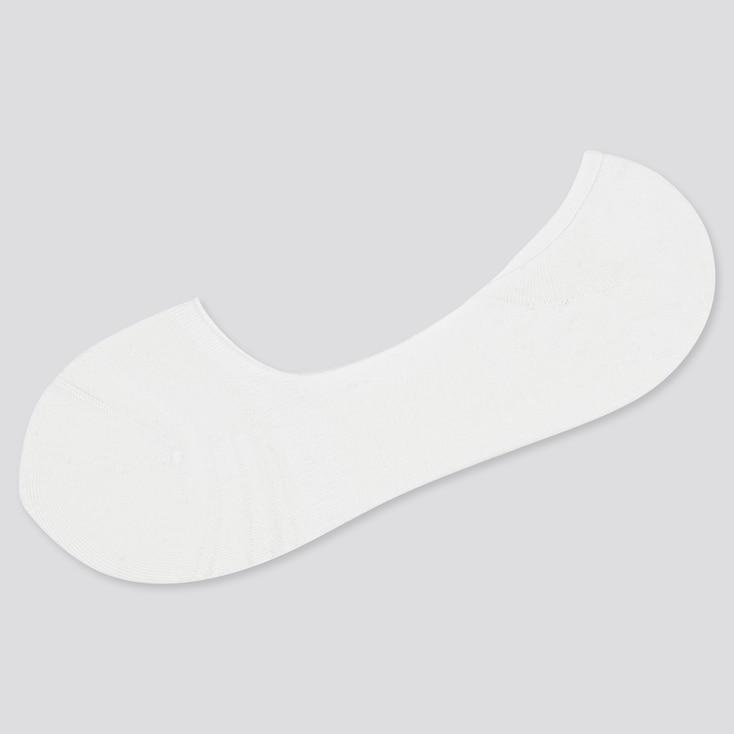 Men Back Pile Low-Cut Socks, White, Large