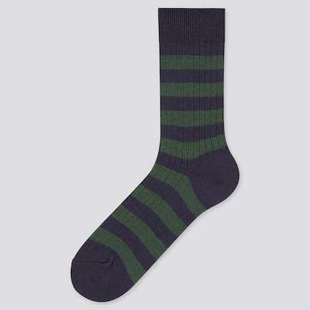 Men HEATTECH Ribbed Striped Thermal Socks