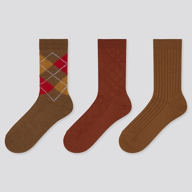 Women Argyle Socks (Three Pairs)