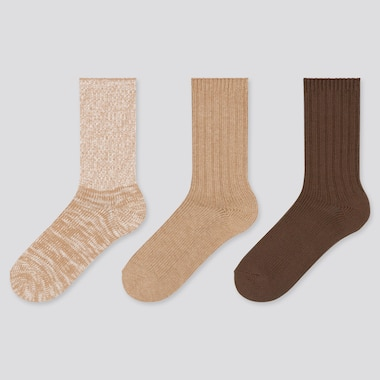 Women Slub Ribbed Socks (Three Pairs)