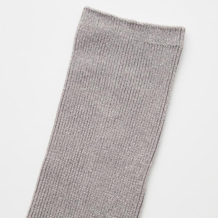 Women Glitter Socks (3 Pairs), Gray, Large
