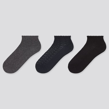WOMEN Lace Short Socks (Three Pairs)