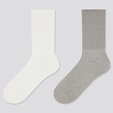 Women 2-Way Heattech Socks (2 Pairs) (Online Exclusive), Off White, Medium