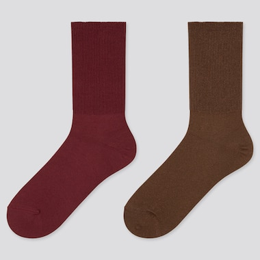 Women 2-Way Heattech Socks (2 Pairs) (Online Exclusive), Wine, Medium