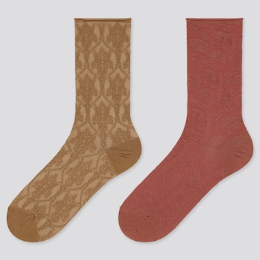 Women Heattech Float Socks (2 Pairs) (Online Exclusive), Beige, Medium