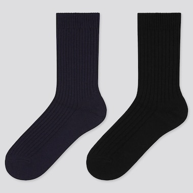 Women HEATTECH Ribbed Thermal Socks (Two Pairs)