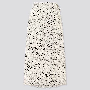 Women Belted Tucked Flare Skirt (Online Exclusive), Off White, Medium